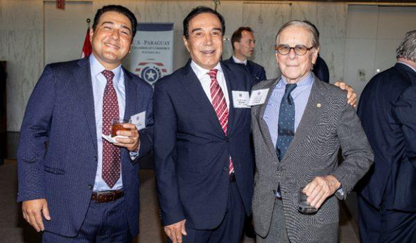 Ed Vergara, Arnold & Porter; Faisal Hammoud, Monalisa, USPCC Director; Timothy Towell, Former U.S. Ambassador to Paraguay